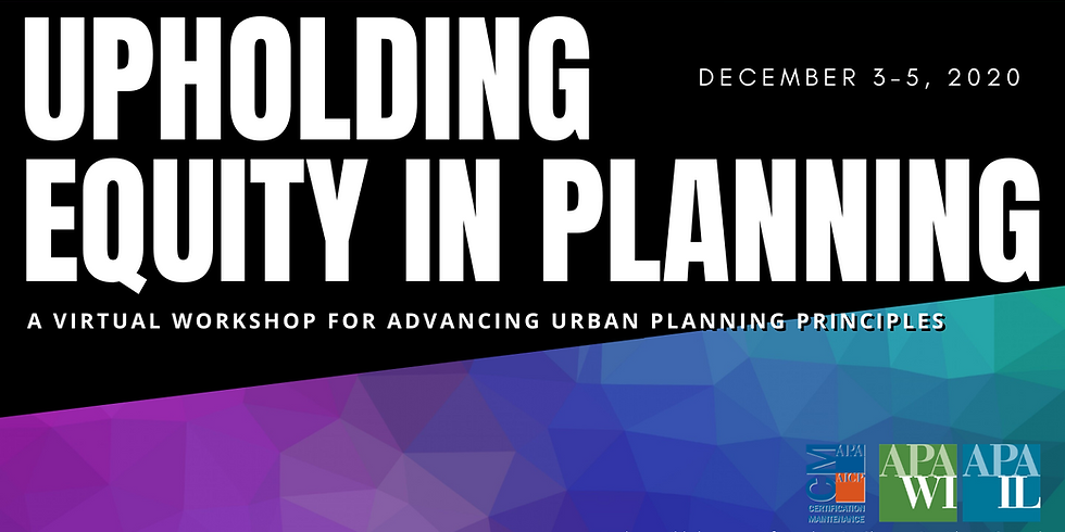 Upholding Equity in Planning Workshop