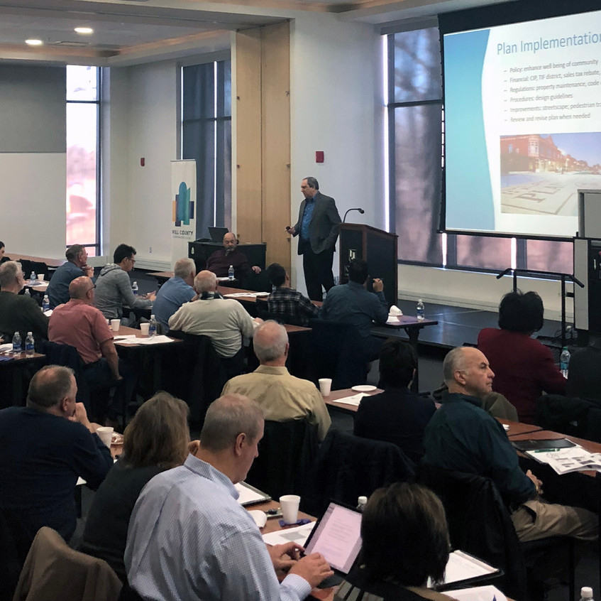 April 7, 2018 Plan Commissioner Training with the Will County Governmental League (photo by Elaine Bottomley, Will County Governmental League)