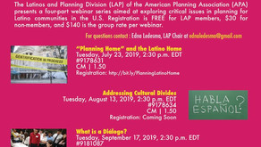 Planning for Diversity in the Just City: Latinos and Planning in a Changing America (CM | 1.5)