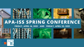 2021 APA-ISS Spring Conference - Registration is Open!
