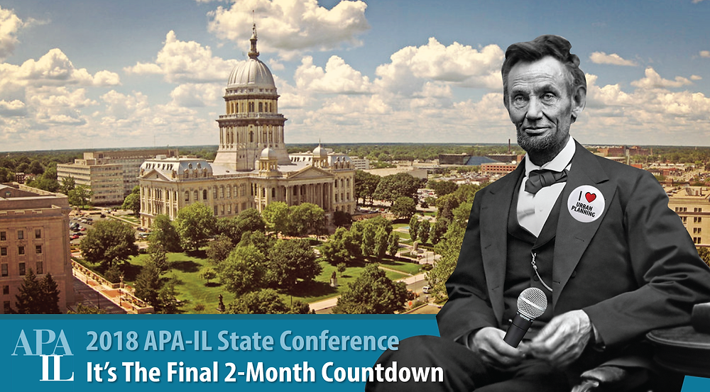 photo of the state capitol in Springfield IL with Abe Lincoln photo and the words it's the final 2 month countdown