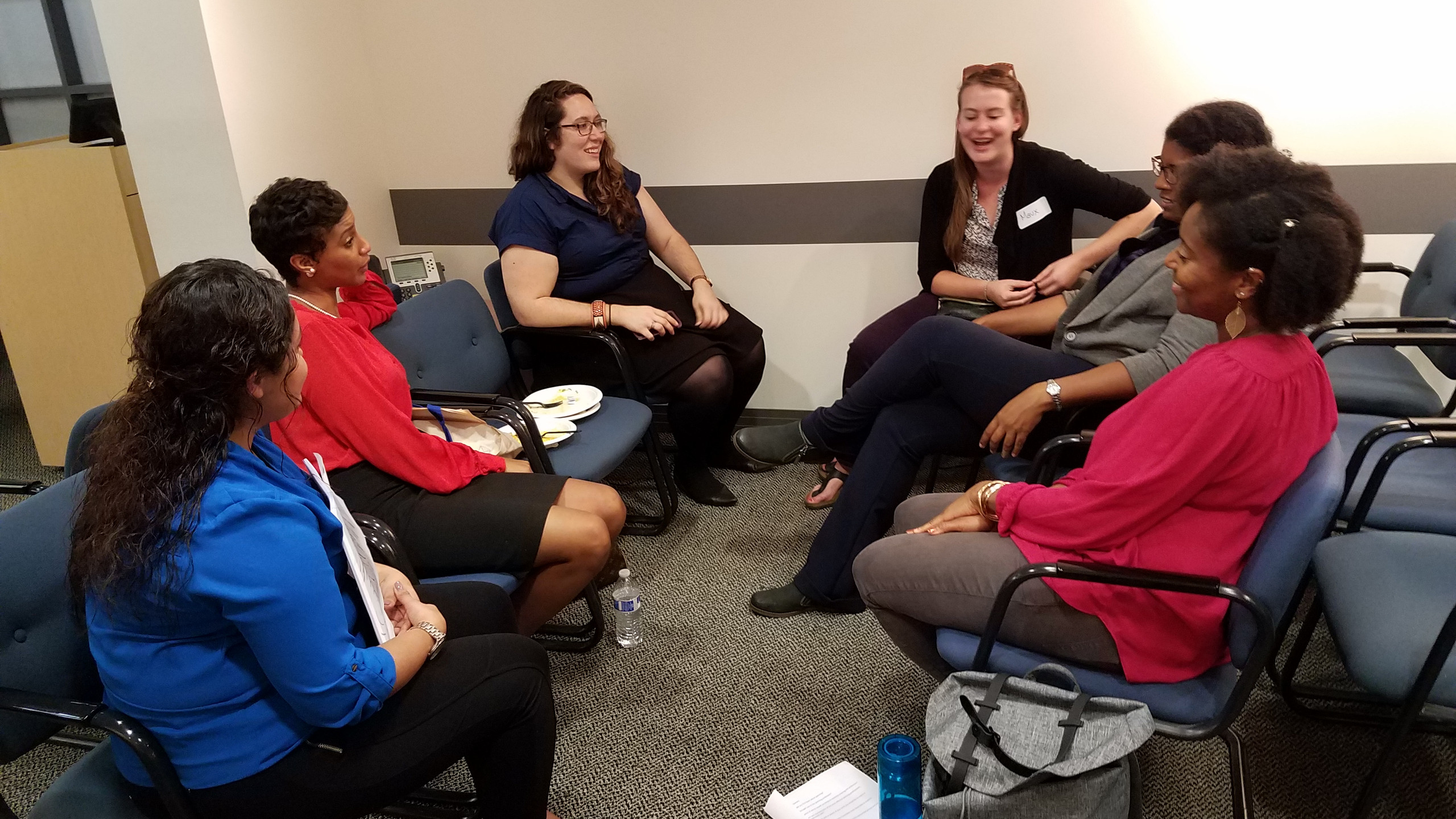 APA-IL Diversity Panel, networking and refreshments with students of the Society for Black Urban Planners (SBUP), Latino Planning Organization for Development, Education, and Regeneration (LPODER), and Women in Planning and Public Affairs (WPPA) - October 5, 2017 (photo by Jake Seid, AICP)