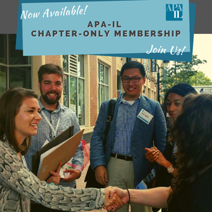 flyer for chapter only membership - photo of conference attendees saying hello