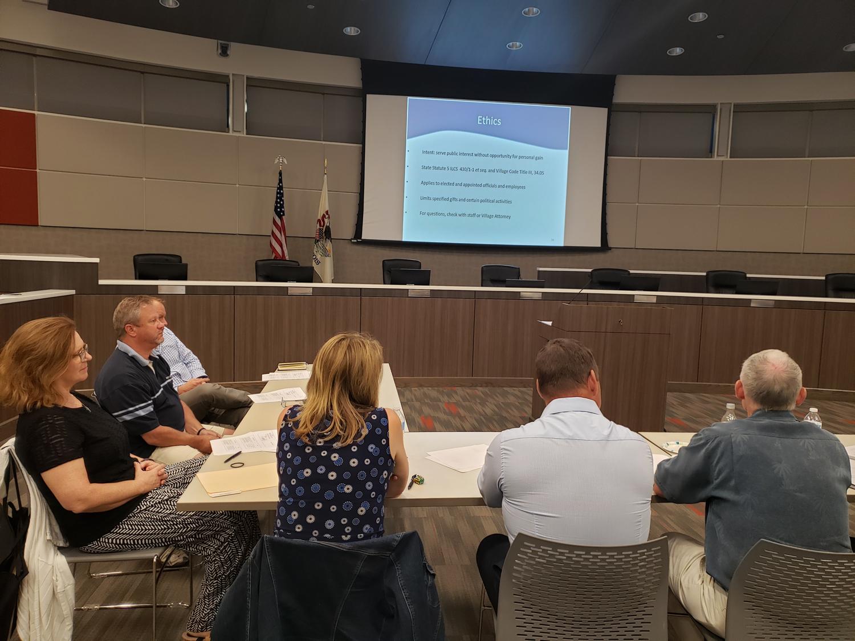Village of Frankfort Plan Commissioner Training 6-5-19. Michael Blue, FAICP and Greg Jones, AICP were the trainers. (photo by Michael Blue, FAICP)