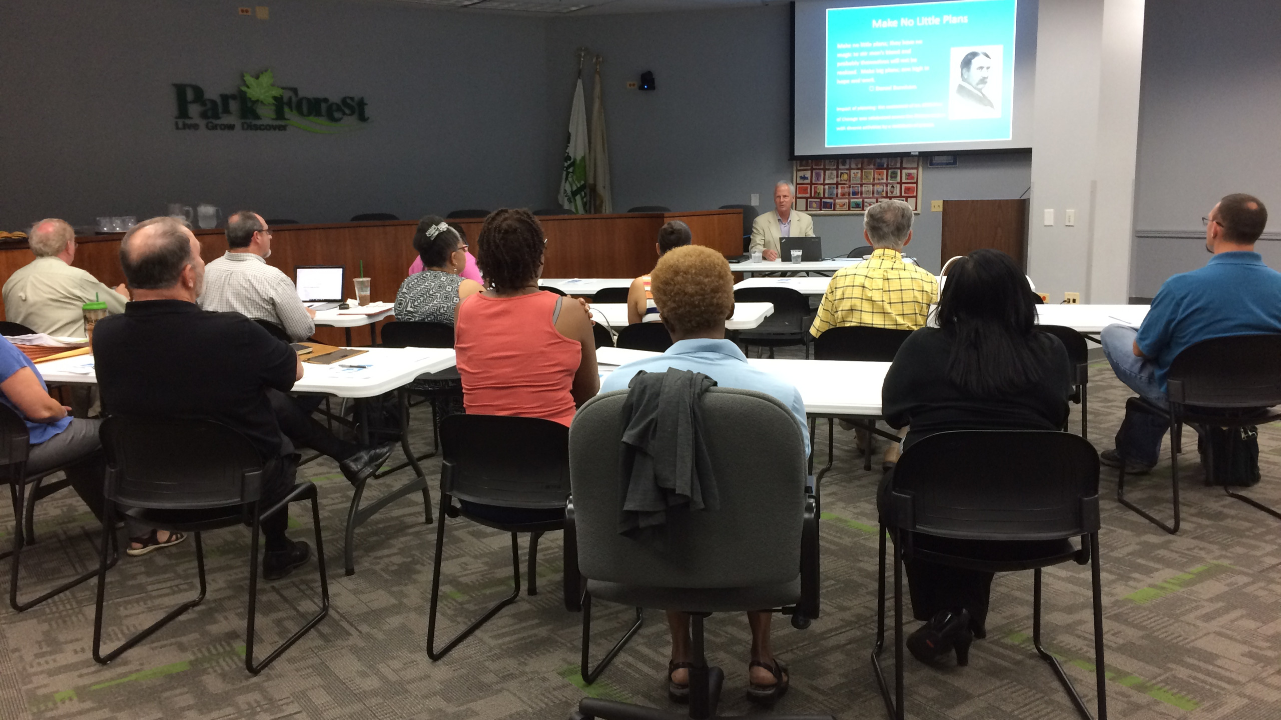 Village of Park Forest Plan Commissioner Training with Bob Sullivan, FAICP and Laurie Marston, FAICP on 7/10/2018