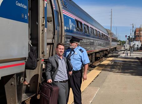 Amtrak Mobile Workshop arrives in Springfield