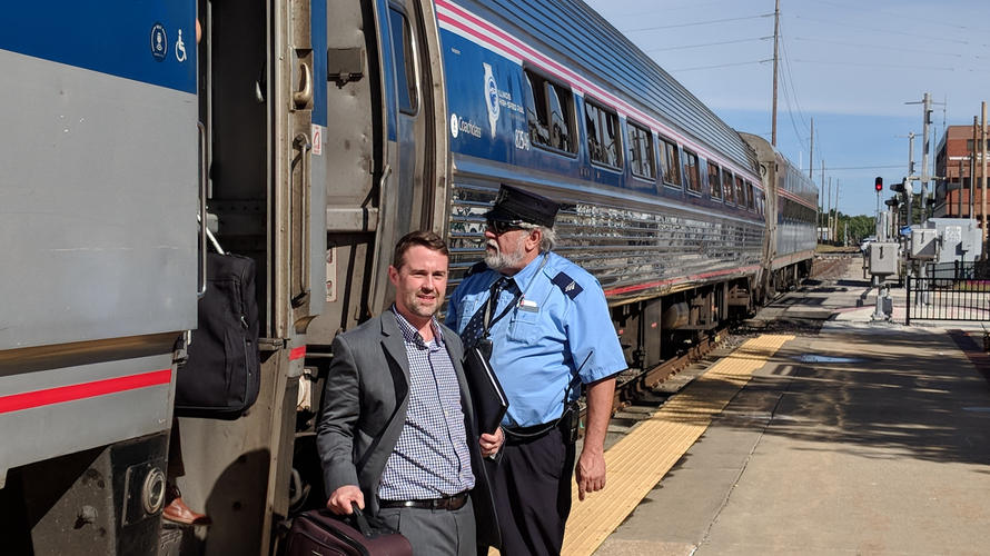 Amtrak Mobile Workshop arrives in Springfield