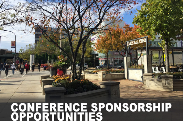 downtown Evanston Illinois with title: conference sponsorship opportunities