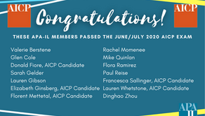 Congratulations Illinois members that passed the June/July 2020 AICP Exam!