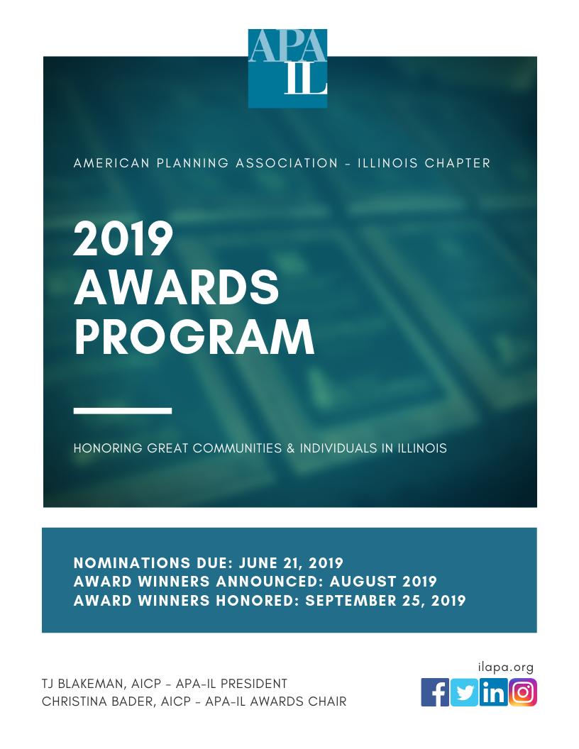 2019 Awards Program information packet