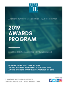 2019 Awards Program information packet