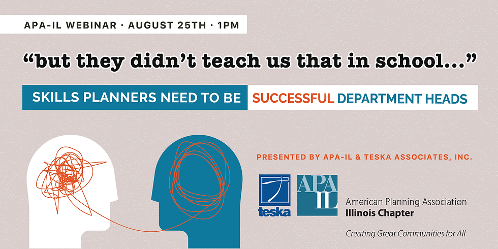 """Skills Planners Need to be Successful Department Heads - """"but they didn't teach us that in school"""""""