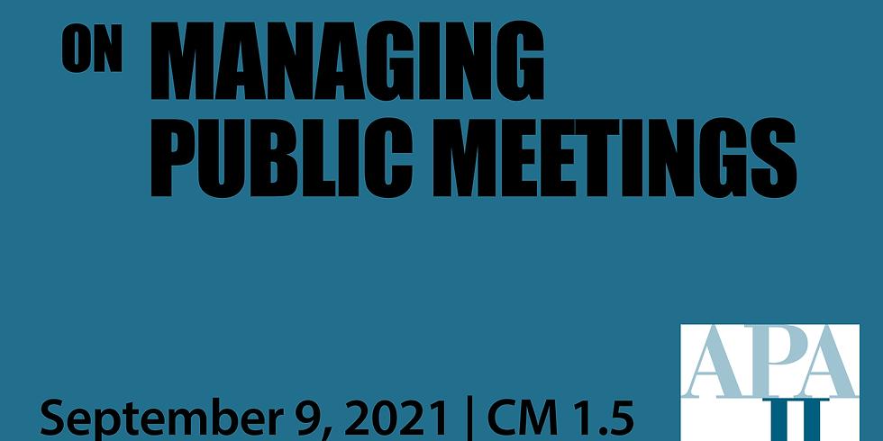 APA-IL PlanNotes: Managing Public Meetings