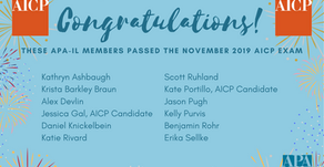 Congratulations Illinois members that passed the November 2019 AICP Exam!