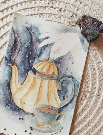 Hora mágica do chá