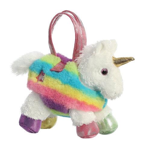 Sac à main arc-en-ciel pour la Licorne à pattes multicolores
