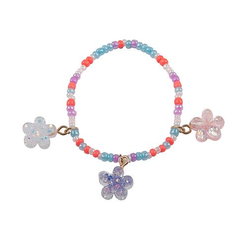 Bracelet 3 fleurs scintillantes
