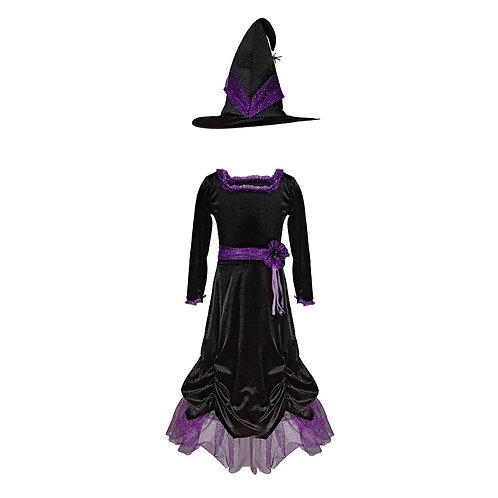 Robe et chapeau velours de la sorcière Vera