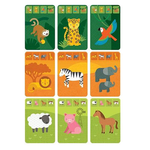Jeu de cartes - Le royaume des animaux
