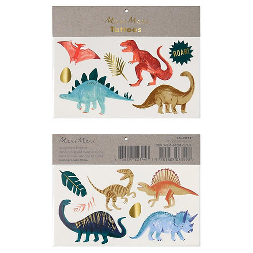 Tatouages temporaires - Le Royaume des Dinosaures