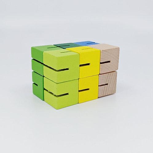 Cubes casse-tête en bois