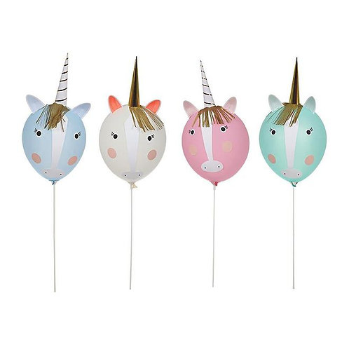 """Ensemble de 8 ballons """"Les Licornes"""""""