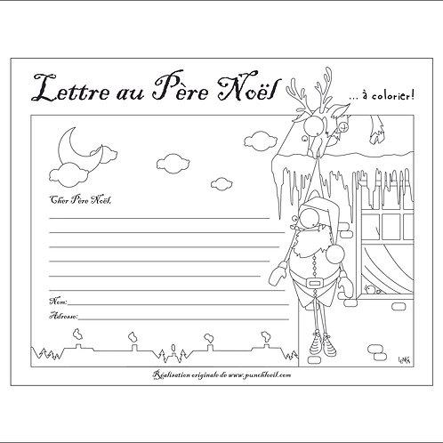 Lettre au Père Noël à colorier par Lenka Lagueux