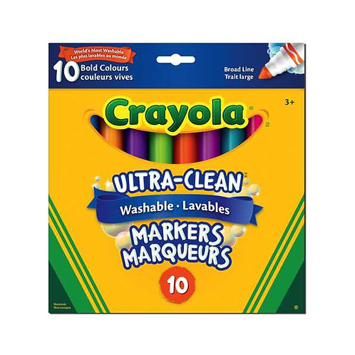 10 marqueurs couleurs vives Crayola