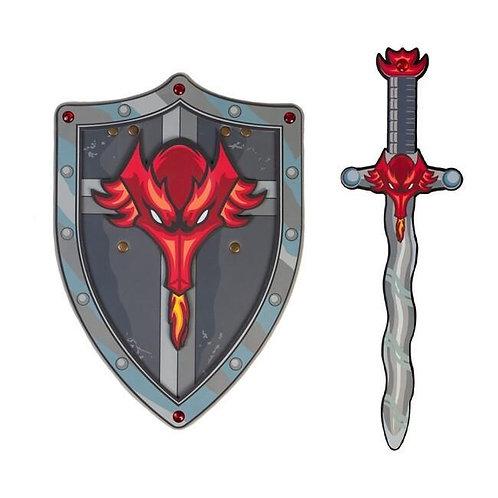 Duo épée et bouclier Dragon en mousse EVA