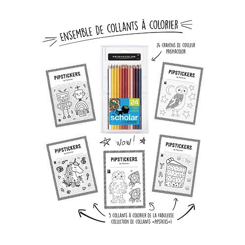 Ensemble d'autocollants à colorier