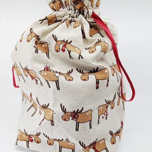 Sac d'emballage réutilisable, pour cadeaux de Noël