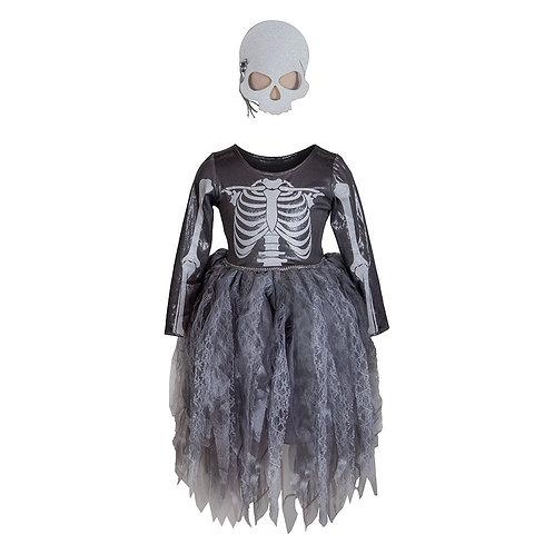 Robe squelette de sorcière et son masque