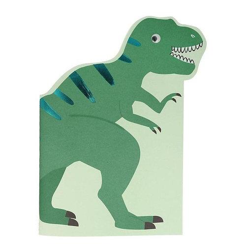 Ensemble carnet de croquis et autocollants dinosaures