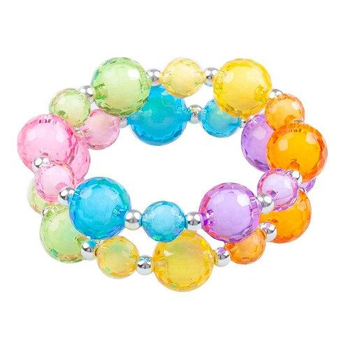 Ensemble de 2 bracelets boules et bulles