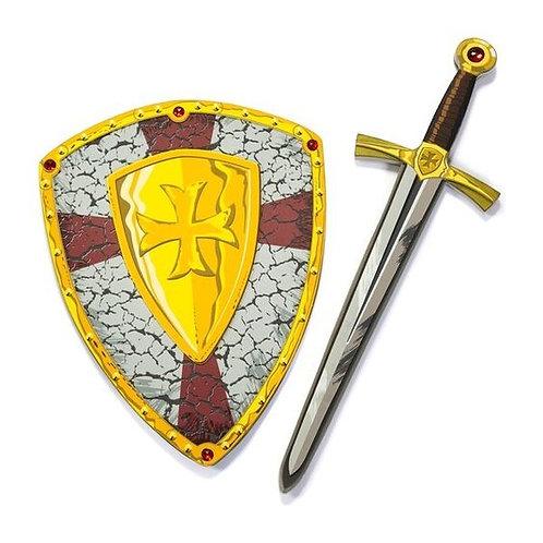 Duo épée et bouclier de chevalier en croisade, en mousse EVA