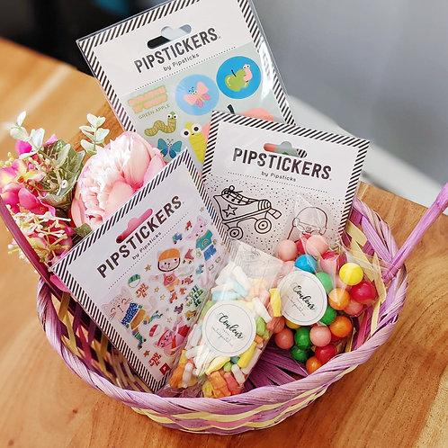 Ensemble bonbons et autocollants - La folie du printemps!