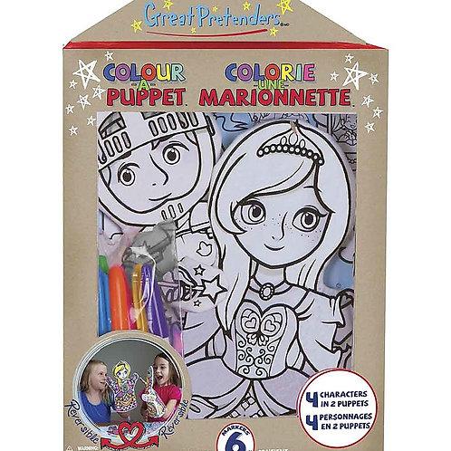 Marionnette à colorier réversible