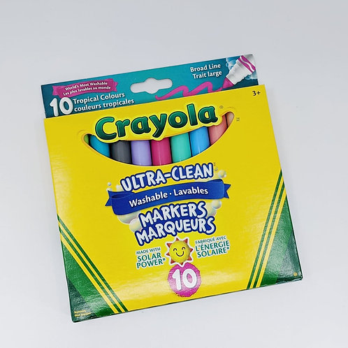 10 marqueurs couleurs tropicales Crayola
