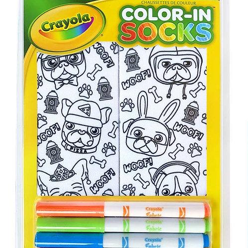 Bas à colorier Crayola - Les chiots