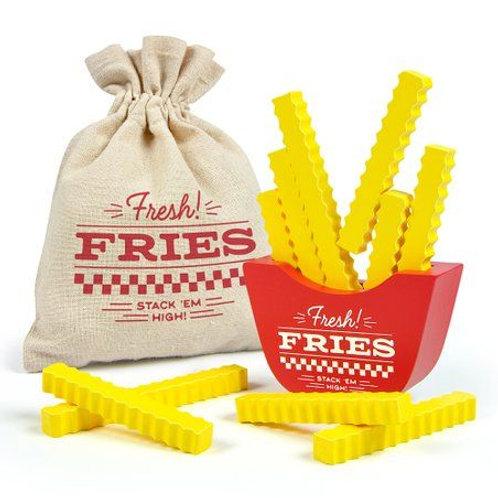 Jeu d'empilage en bois «Frites fraîches»