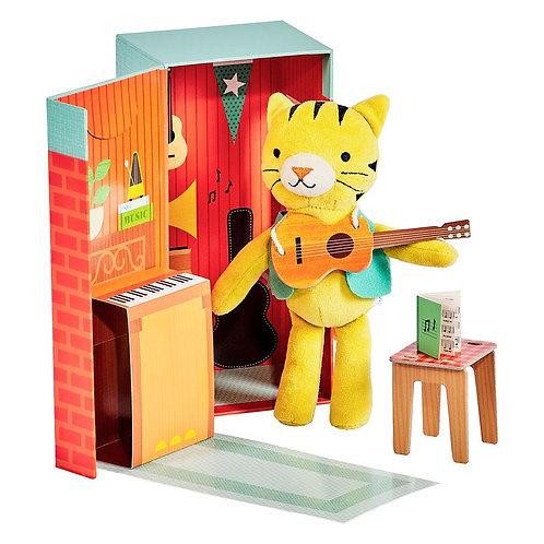 Théodore le tigre et son studio de musique