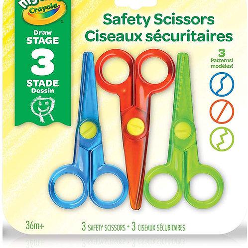 Ensemble de 3 paires de ciseaux sécuritaires de Crayola