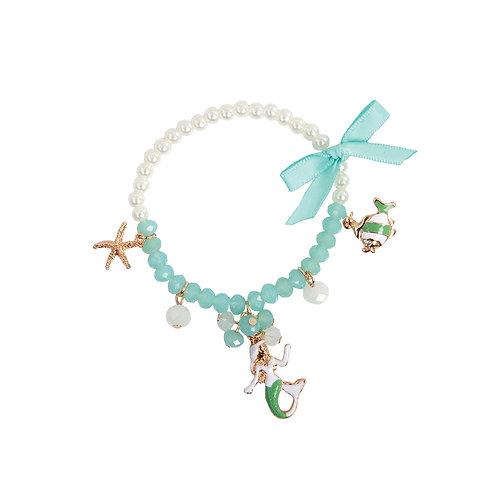 Bracelet à breloques de sirène