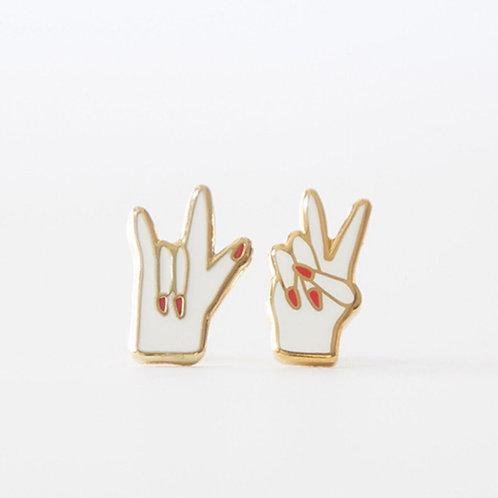 Boucles d'oreilles «Peace and love»