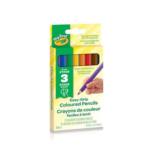 8 crayons de couleur faciles à tenir Crayola