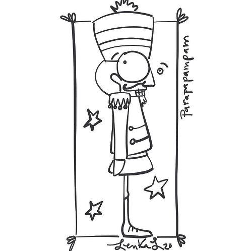 Dessin à colorier - Casse-noisette de Noël par Lenka Lagueux