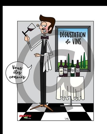 Dégustation de vins Métro Kelly