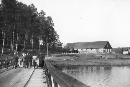 Ilonojan vanha silta 1930-luvulla.