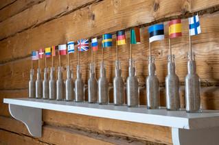 Renkituvalla on yöpynyt vieraita useista eri maista.