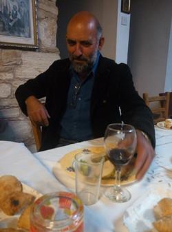 Enjoying Lagria wine